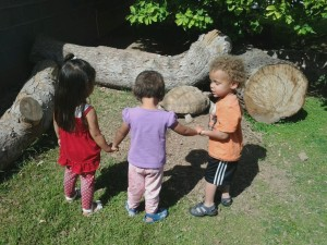 Toddlers Exploring Outside TMS