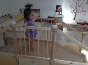Learning to walk over the bridge